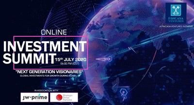 "FINCASA ANNOUNCES GLOBAL ONLINE INVESTMENT SUMMIT ""NEXT GENERATION VISIONARIES"" (PRNewsFoto/Fincasa Ventures)"