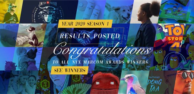 NYX Awards Congratulates All 2020 Season 1 Winners