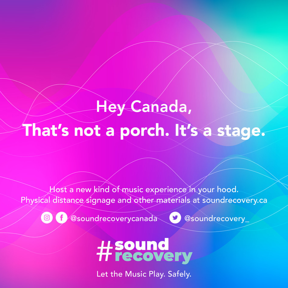Sound Recovery – Let the music play. Safely. (CNW Group/Sound Recovery)