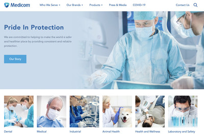 Medicom celebrates 32 years of infection control expertise with the launch of a completely redesigned, fully responsive, intuitive website. Visit https://medicom.com/ (CNW Group/AMD Medicom Inc.)
