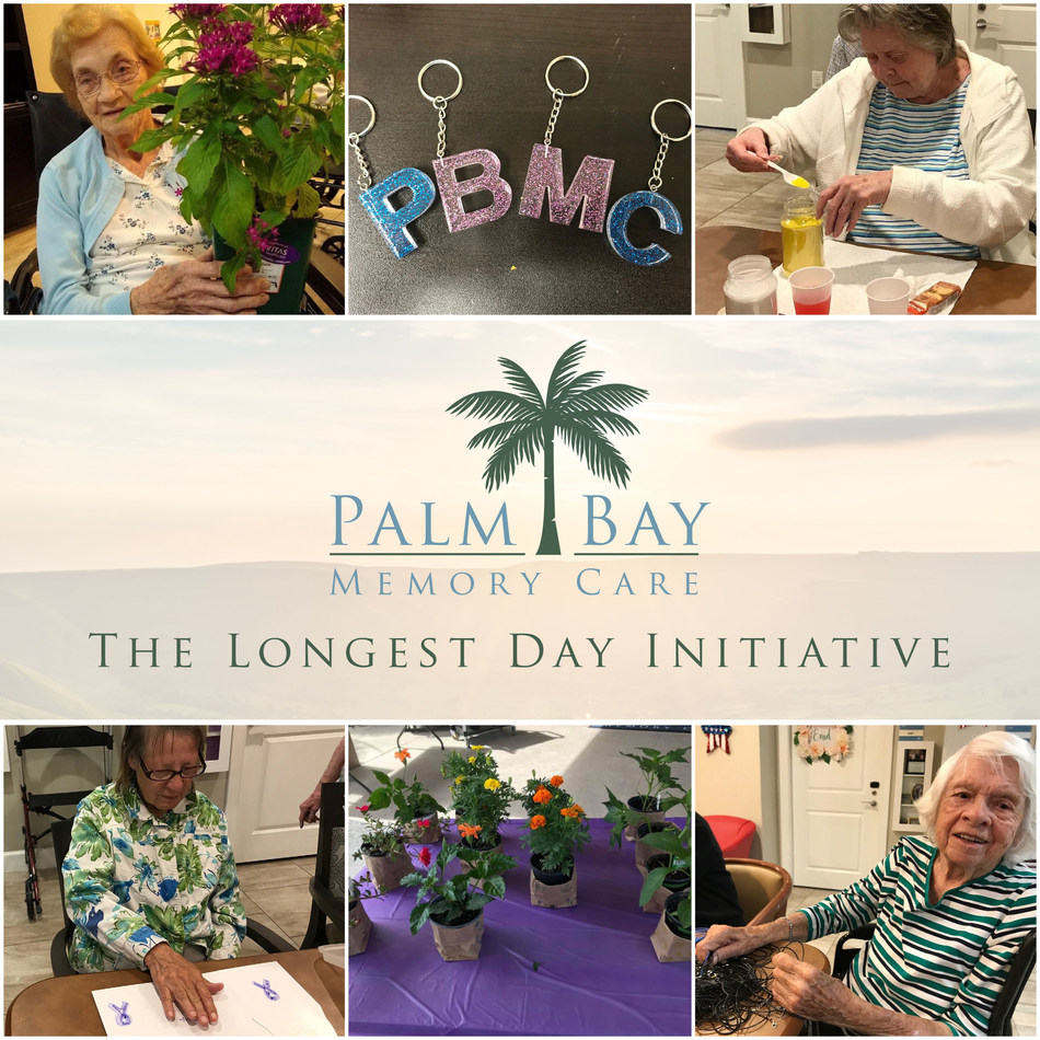 """Palm Bay Memory Care Residents Participate in Fundraising Events to Raise Awareness of the Alzheimer's Association's Global Initiative """"The Longest Day"""""""