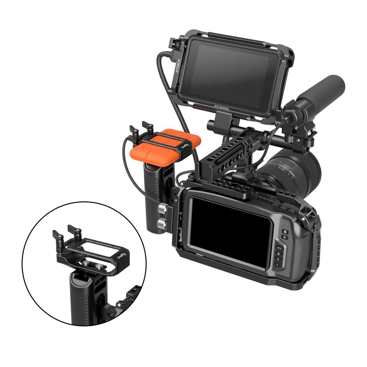 Smallrig Ssd Holder For Lacie Rugged Ssd Maximize The Blackmagic Pocket Cinema Camera 4k 6k Workflow