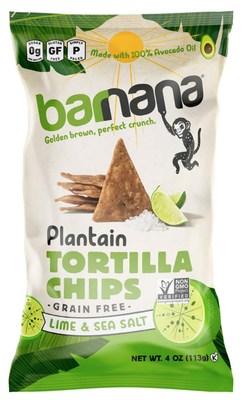 Barnana Plantain Tortilla Chips Lime & Sea Salt