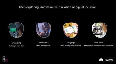 """""""Innovate for All"""" (Innovar para todos) (PRNewsfoto/Huawei Consumer Business Group)"""