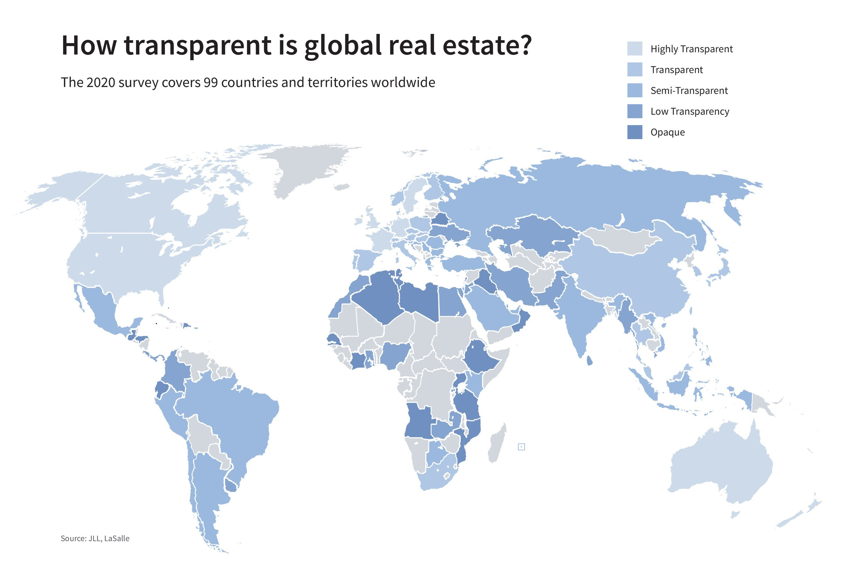 Real estate transparency improvement slows despite increasing  sustainability commitment and proptech adoption