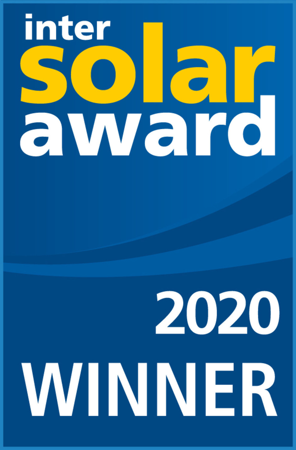 Intersolar AWARD 2020 WINNER (PRNewsfoto/REC Group)
