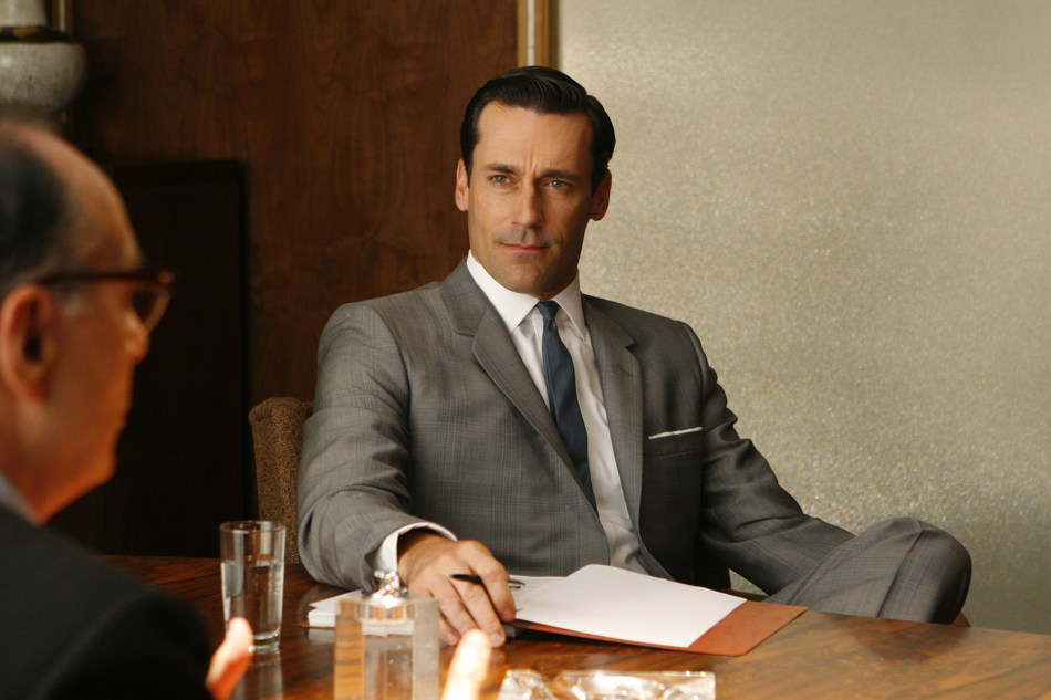 Jon Hamm as Don Draper in the iconic television series Mad Men, now available exclusively on Super Channel in Canada (CNW Group/Super Channel)