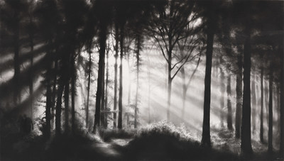 Robert Longo Untitled (In the Garden, et in arcadia ego) Charcoal drawing, 2009 173.5 x 306 cm / 68.3 x 120.4 inches Estimate: € 150,000-200,000 / US$ 155.000-220.000 (PRNewsfoto/Ketterer Kunst)