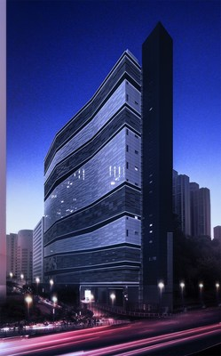 Digital Realty's HKG11 Data Centre by night