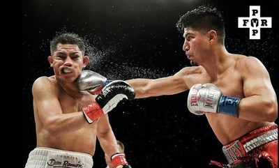 Mikey Garcia defeating Jesse Vargas on DAZN earlier this year. Waiting with Pound for Pound CBD for his chance at the great Manny Pacquiao to win the WBA Welterweight Championship belt.