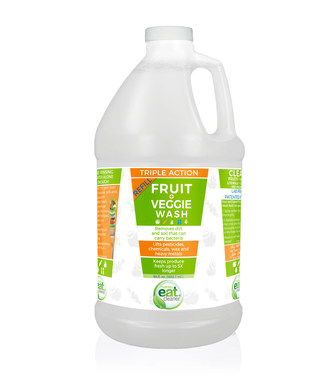 Now, the best-selling Fruit + Veggie wash will be available in an all-new half-gallon value size, perfect for refilling the Eat Cleaner® 12 fl. oz. spray bottle economically and in an eco-friendly way.