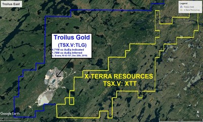 X-Terra Resources completes first exploration program on Troilus East (CNW Group/X-Terra Resources Inc.)