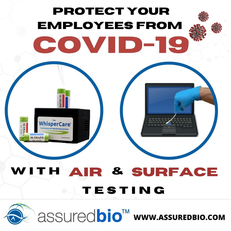 Protect your employees from COVID-19 with air & surface testing.