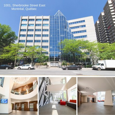 Photos of 1001 Sherbrooke Street. Interior and exterior views (CNW Group/BTB Real Estate Investment Trust)