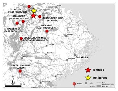 Figure 3: Bergslagen Mining District (CNW Group/District Metals Corp.)