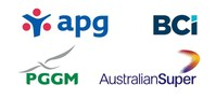 APG, BCI, PGGM and AustralianSuper logos (CNW Group/British Columbia Investment Management Corporation (BCI))