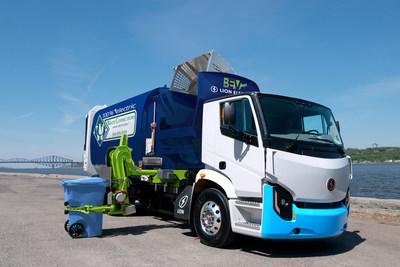 LION8 - un camion de collecte de matières résiduelles sans émission de gaz à effet de serre (Groupe CNW/La Compagnie Électrique Lion)