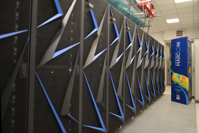 The new IBM POWER9 accelerated cluster at CINECA in Italy. Photo credit: CINECA