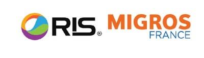 RIS and Migros France Logo (PRNewsfoto/Retail Inkjet Solutions)