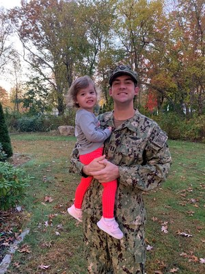 Kyle with his daughter, Olivia