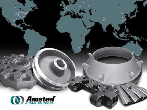 High integrity crushing, milling, and undercarriage castings for mining and other industrial applications by Amsted Global Solutions.