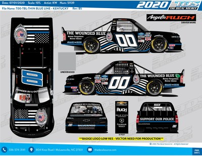 NASCAR driver & The Wounded Blue partner on #BackTheBlue car to support police officers across America