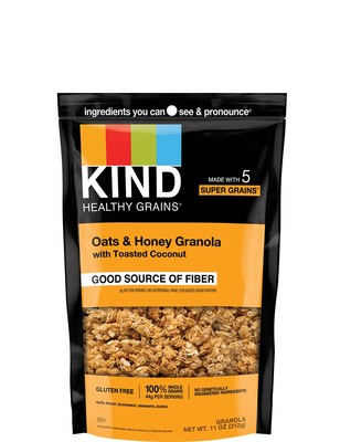 KIND Oats & Honey Granola with Toasted Coconut in the 11oz pouch