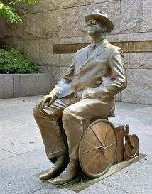 The FDR Memorial Legacy Committee has prioritized the development of an educational program, starting with the campaign by the disability community to add the depiction of FDR in a wheelchair, as seen in the photo above, and the impact of disability on FDR's leadership.