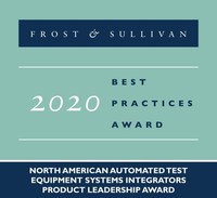 2020 North American Automated Test Equipment Systems Integrators Product Leadership Award (PRNewsfoto/Frost & Sullivan)