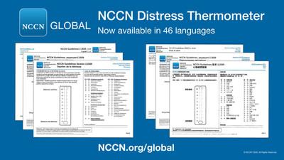 Termômetro da Angústia da NCCN, agora disponível em 46 idiomas em NCCN.org/global.