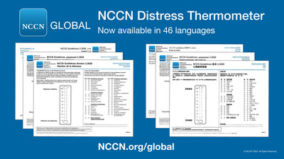 NCCN Distress Thermometer - ahora disponible en 46 idiomas en NCCN.org/global.
