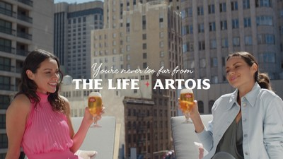"""Stella Artois invites people everywhere to tap into their daydreams and embrace """"The Life Artois"""" mindset – those savored summer moments with the people who matter most –  all summer long by introducing the """"You're Never Too Far From The Life Artois"""" campaign."""