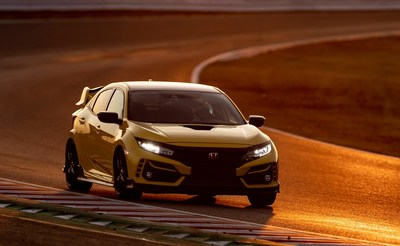 The 2021 Honda Civic Type R Limited Edition stormed to a new front-wheel drive track record at Suzuka Circuit, Honda's Formula 1 racetrack in Japan, with a time of 2 minutes 23.993 seconds. Originally built as a test facility for Honda, the 3.6-mile Suzuka track's figure-8 configuration today is known worldwide as a highlight of the Formula 1 season as a driver and fan favorite.