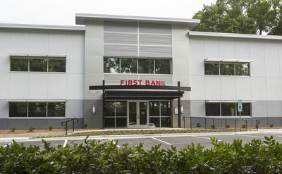 The new First Bank branch in Cary is in the heart of its historic downtown, across from Town Hall and next door to the Cary Chamber of Commerce.