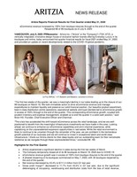Aritzia Reports Financial Results for First Quarter ended May 31, 2020 (CNW Group/Aritzia Inc.)