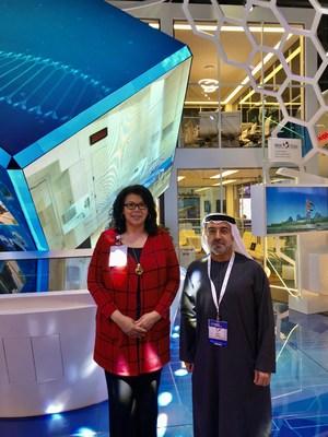 Diane Lynn, Director Global Healthcare Services, and  Dr. Ali Abdul Kareem Al Obaidli, Group Chief Academic Affairs Officer, Corporate Academic Affairs, Abu Dhabi Health Services Company