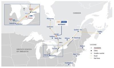 Location Map - First Cobalt Refinery (CNW Group/First Cobalt Corp.)