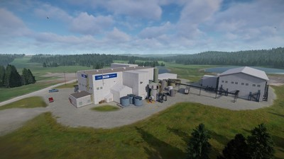 Site Rendering - Expanded Refinery (CNW Group/First Cobalt Corp.)
