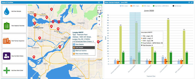 Real-time dashboard with mapping