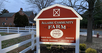 Allaire Community Farm is located in Wall Township, New Jersey.