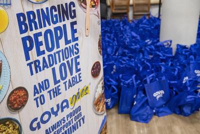 Goya Gives es un programa nacional comprometido con la promoción y el apoyo al bienestar general de nuestras comunidades a través de la responsabilidad social, las iniciativas ambientales y los valores de la empresa. (PRNewsfoto/Goya Foods, Inc.)