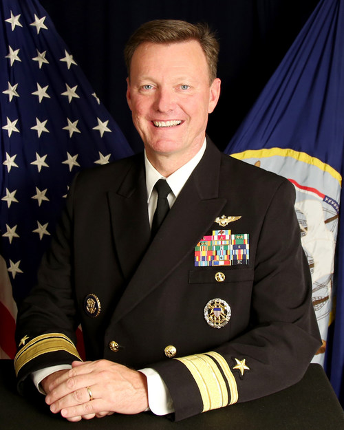 Rear Adm Kyle Cozad, the newly-announced president and CEO of the Naval Aviation Museum Foundation.