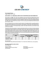 GEAR ENERGY LTD. ANNOUNCES COMPLETION OF BORROWING BASE REDETERMINATION (CNW Group/Gear Energy Ltd.)