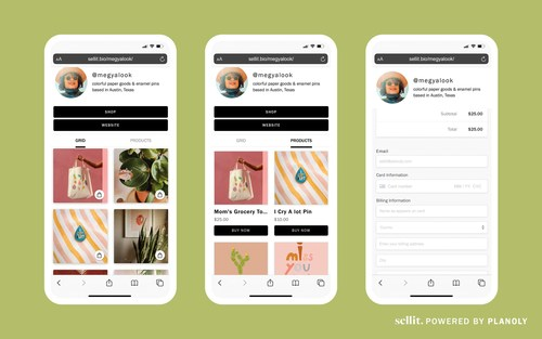 PLANOLY's sellit turns any social media profile into a shoppable storefront with a single link.