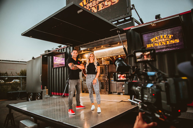 "Cameron and Kaycee Davies show off one of Cruising Kitchens' incredible build outs for their new series, ""Built For Business"" Coming to MotorTrend TV August 20th. Check local listings for air times."