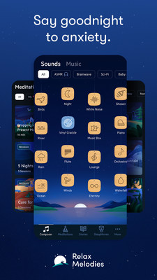 Sleep Inn announced a new relationship with Relax Melodies, one of the most highly-rated sleep and relaxation apps on the market, to help deliver a better night's rest to guests.