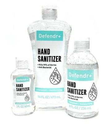 2oz, 16oz and 8oz Defendr+ Hand Sanitizer