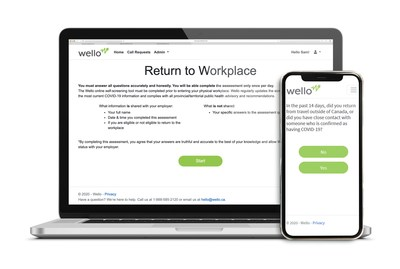 Wello Return To Work Self-Assessment Tool (CNW Group/Wello)