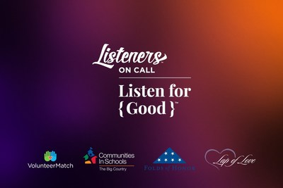 Listen for Good is a new virtual fundraising program that leverages the Listeners on Call platform for promoting mental health and well-being by connecting Callers to trained Listeners — anonymously and affordably.