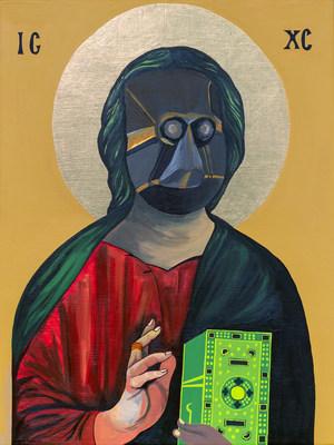 Moridja Kitenge Banza, Christ Pantocrator n°10, 2020 (Groupe CNW/Musée d'art contemporain de Montréal)